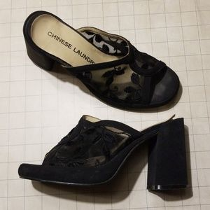 Vintage 90's Chinese Laundry Mule Platforms 6.5
